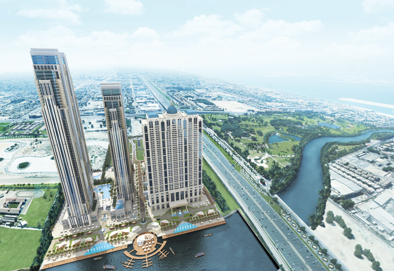 Three towers are being developed as part of Al Habtoor City's residential offering.