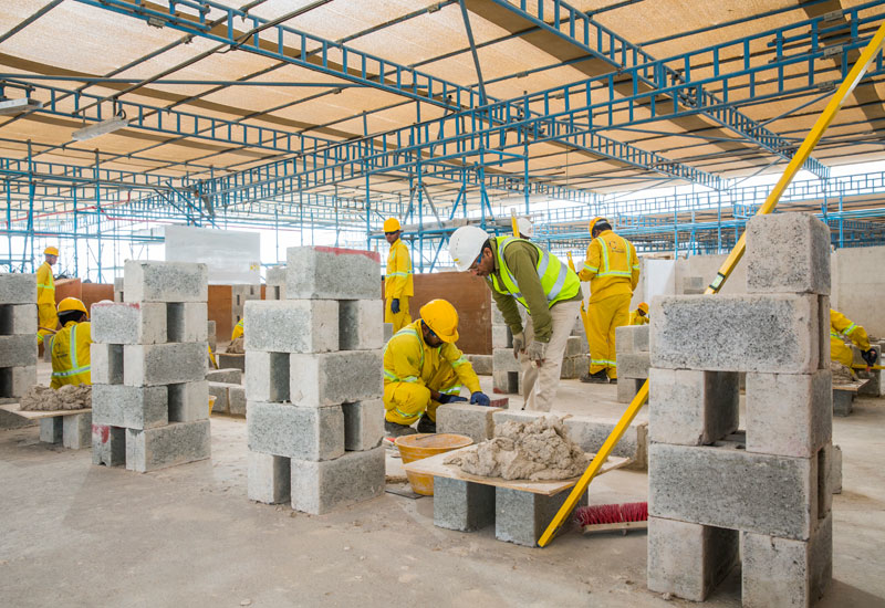 Site Visits, Al Naboodah Construction Group, Al Naboodah Trade School, And plastering., Dubai, Engineering Construction Industry Training Board (ECITB) International Health, Health and safety, Masonry, Mechanical and electrical works, Scaffolding, Shuttering, Steel fixing, Tiling