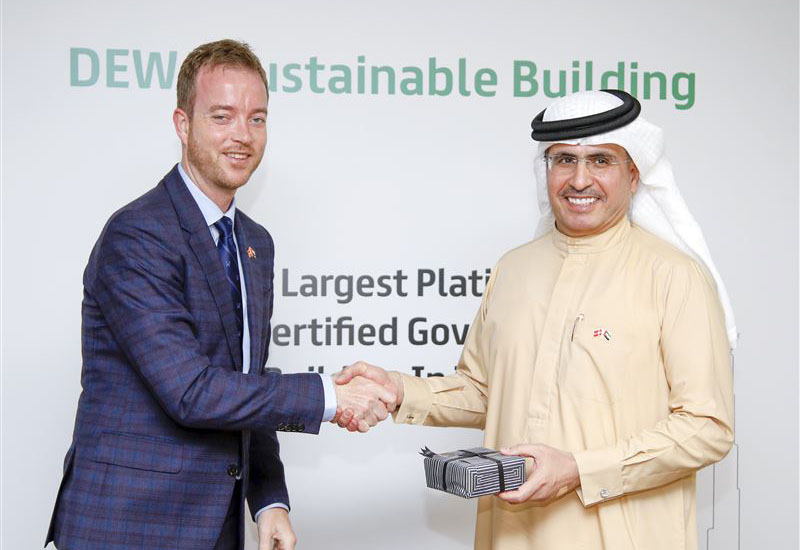 Esben Lunde Larsen (left) hopes Denmark and Dubai can work together on sustainable construction