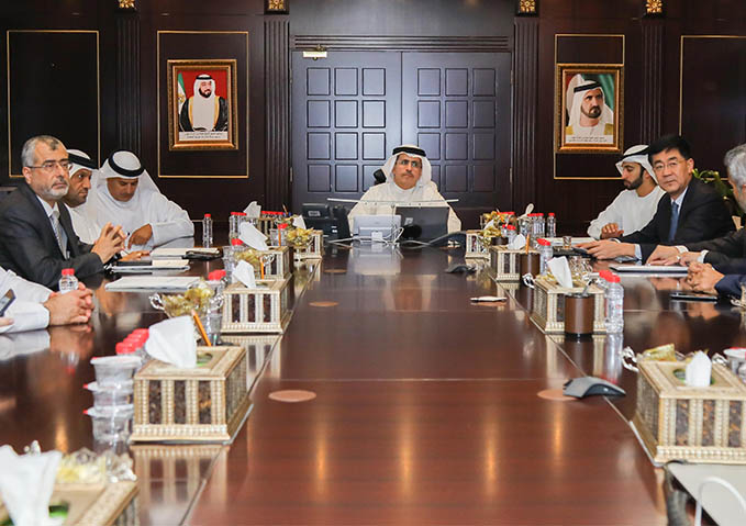 Dewa's Al Tayer met with the CEO of Meydan Group to discuss project 'cooperation'.