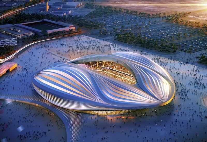 Al Wakrah stadiums in Doha, Qatar.