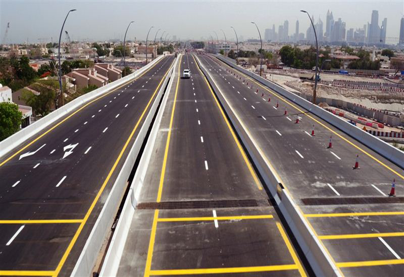 The bridge consists of two lanes in each direction [Image courtesy: Dubai Media Office].