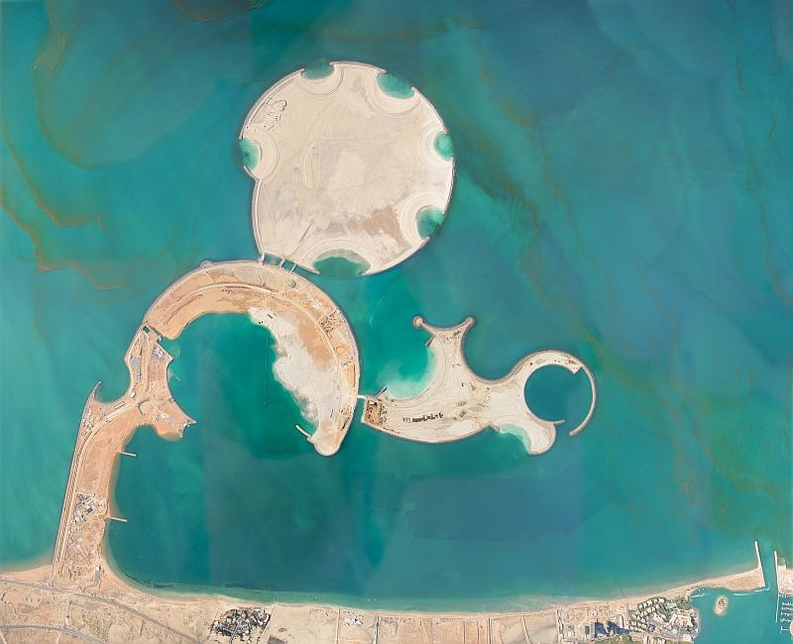 Al Marjan Island is a group of four coral-shaped islands in a man-made archipelago.