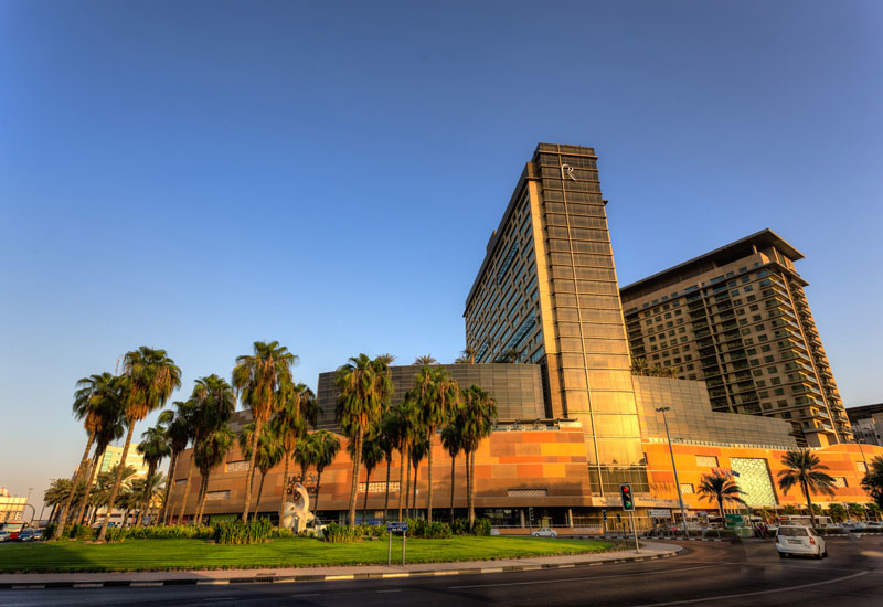 Al Ghurair City features apartments, hotels, and shopping and dining options.