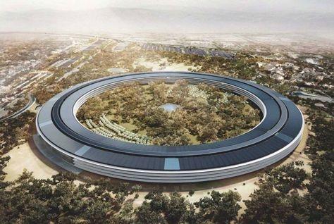 The new $5bn Apple headquarters in Cupertino, California.