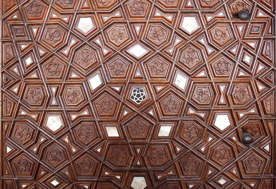 Wood is a critical component of many traditional Arabic architectural components and furnishings.