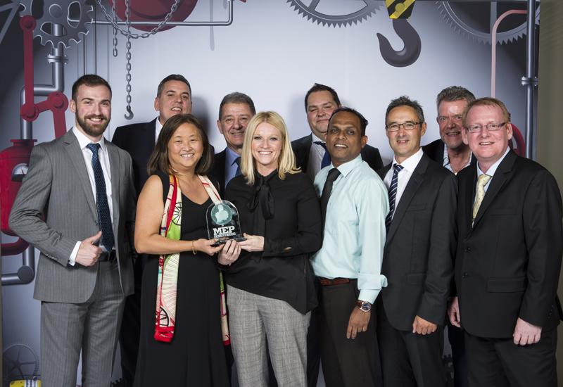 Reid Donovan and the Arcadis team at the 2017 MEP awards.