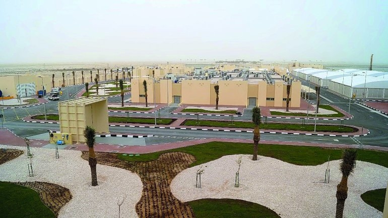 A view of the newly constructed Qatar Aquatic Fisheries and Research Centre in Al Matbakh.