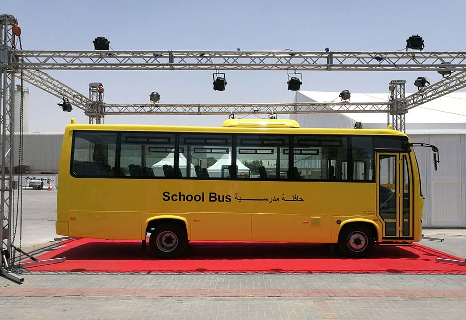 Ashok Leyland's UAE-built Oyster school bus meets and exceeds the current standards for bus transport in the emirates.