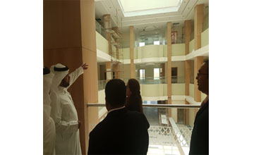 A delegation of government officials recently visited the upcoming family courts complex in Hunainya [image: BNA].