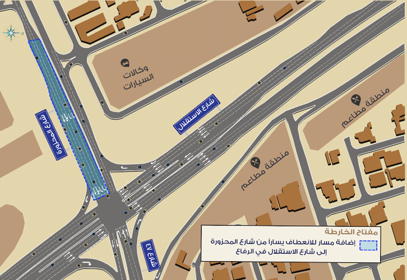 Road improvements at a Bahrain intersection have begun.