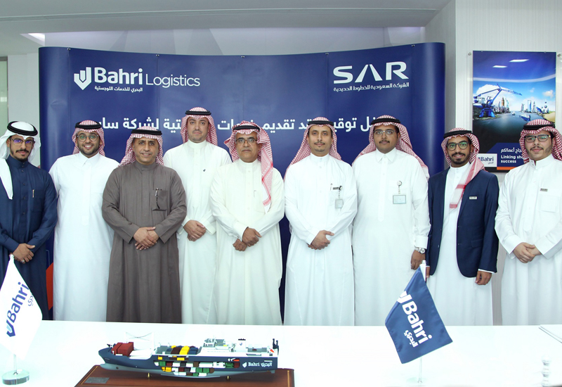 Under the terms of the agreement, Bahri will provide transportation and shipping services, including customs clearance support, for Saudi Rail Company.