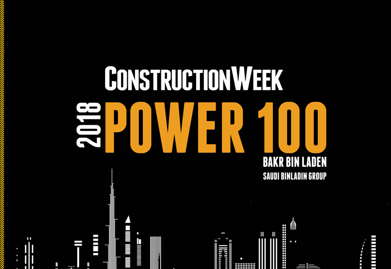 Saudi Binladin Group's Bakr Bin Laden returns to the 2018 Construction Week Power 100.