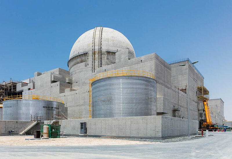 The plant consists of four containment units, each of which houses a nuclear reactor.