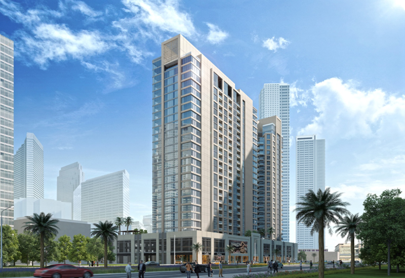 The towers are surrounded by green spaces, retail, hospitality, leisure and dining options.