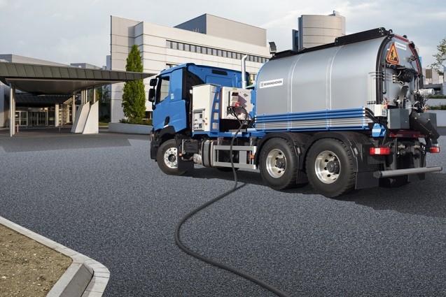 The Benninghoven GKL Silent range of asphalt mixers can be installed on an HGV or any flatbed trailer platform.