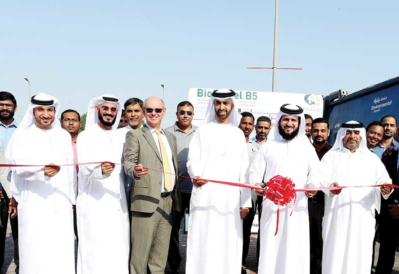 Top Imdaad officials at the inauguration of the new fleet facility in Jebel Ali.