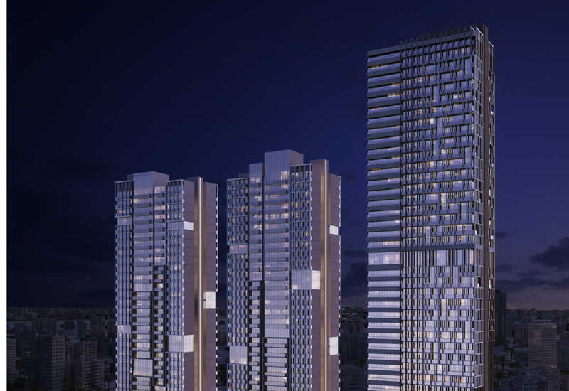 he project will include three independent high-rise buildings.