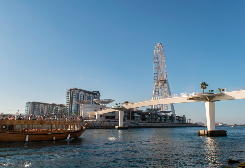 """The pedestrian bridge will open to the public """"soon"""", according to KEO."""