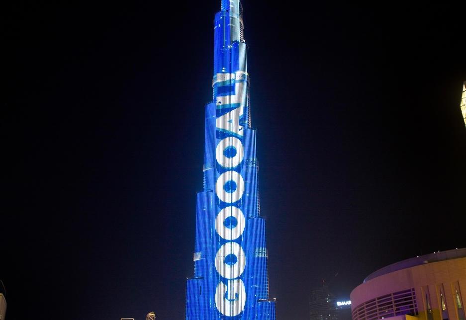 Burj Khalifa, the world's tallest building, will feature the Football Live Scoreboard till 15 July, 2018.