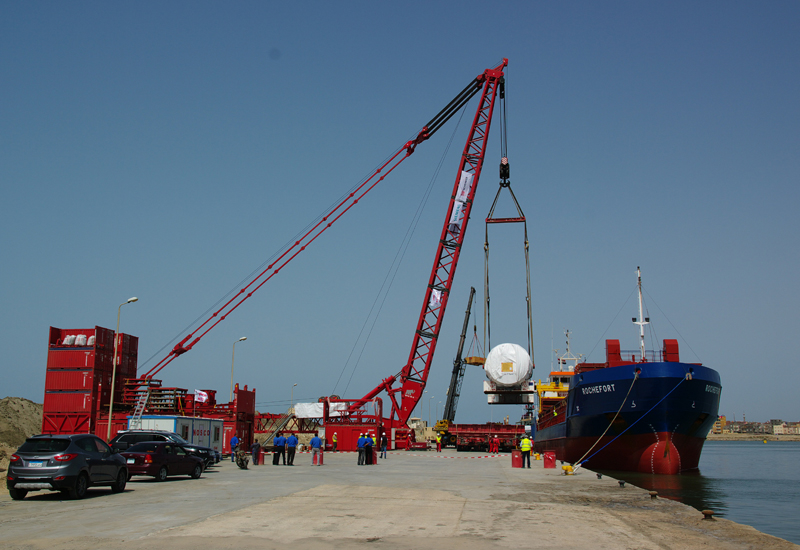 The installation of a Mammoet MTC 15 at Burullus Fishing Port negated the need to use Alexandria Port.