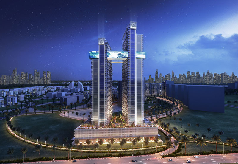 Cayan Cantara comprises two towers that are 38 and 42 storeys high.