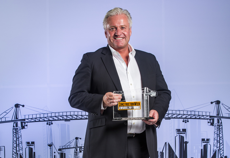 Tyrwhitt was awarded Lifetime Achievement Honours at the Construction Week Awards 2017 in the UAE.