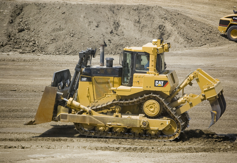 The general-duty undercarriage is compatible with Cat D9N, D9R and D9T bulldozers, and promises to reduce operating costs by 30% to 50%, according to Al-Bahar. [Image: Shaun Greiner]