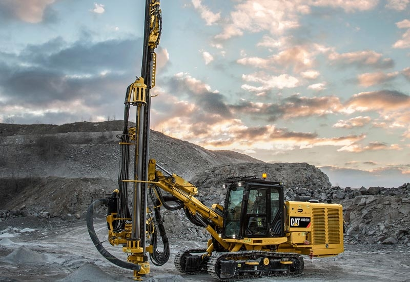 Caterpillar will cease production of its track drills, including the MD5150C (pictured above).