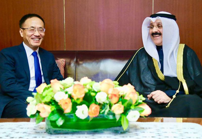 Kuwait's ambassador to China, Sameeh Johar Hayat, wants to build a stronger relationship with the Asian superpower.
