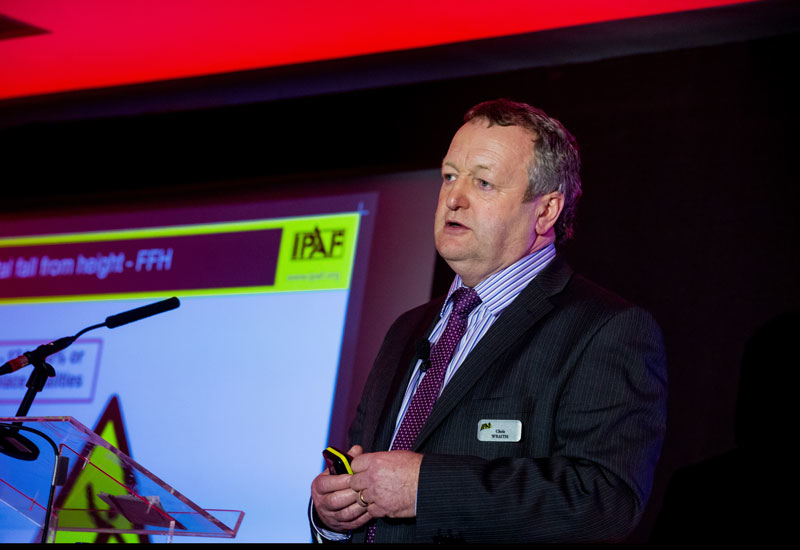 End users must share incident data to help keep the industry safe, according to IPAF's Chris Wraith (above).