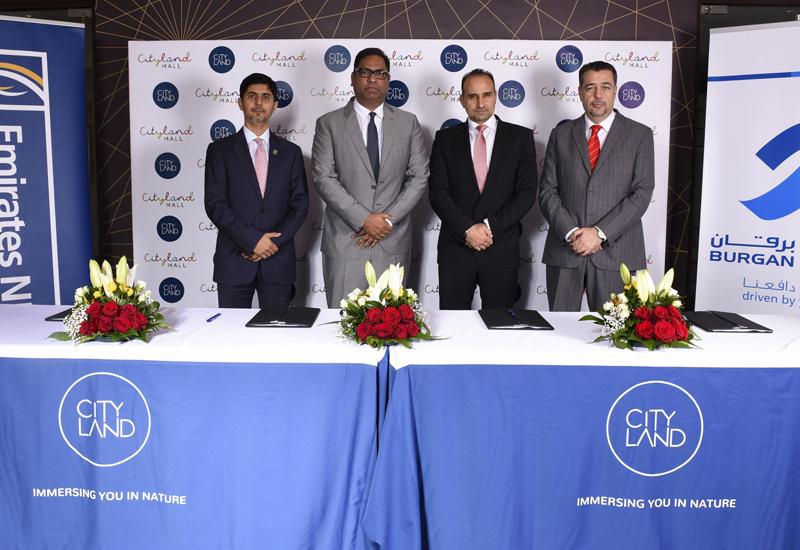 L-R: Emirates NBD's Syed Navid Murtaza and Fahimuddin Sharfuddin; Cityland Group's Abdel Naser Rahal; and Burgan Bank's Dany Noujaim.