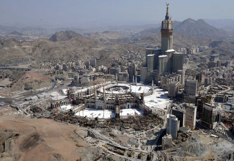 Zamzam's water storage structures supply water to the Holy City of Mecca, Saudi Arabia (pictured above).