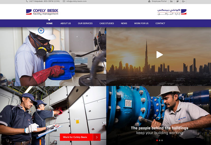 The new Cofely Besix Facility Management website.