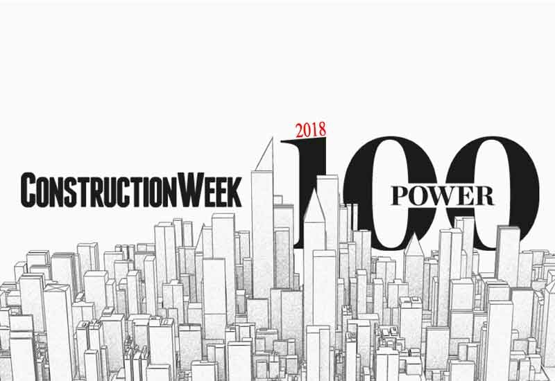 Power 100, 2018 construction week power 100, Middle East construction, Power 100 2018