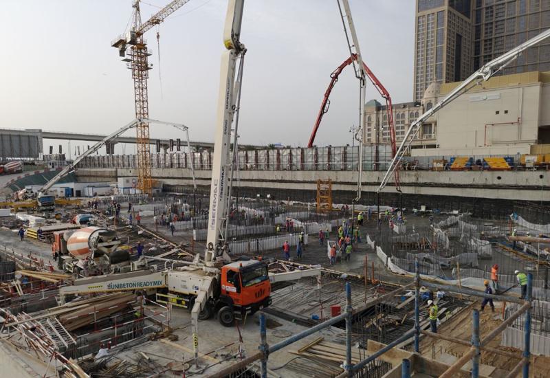 Construction is speeding ahead at Damac's $2.1bn Aykon City development.