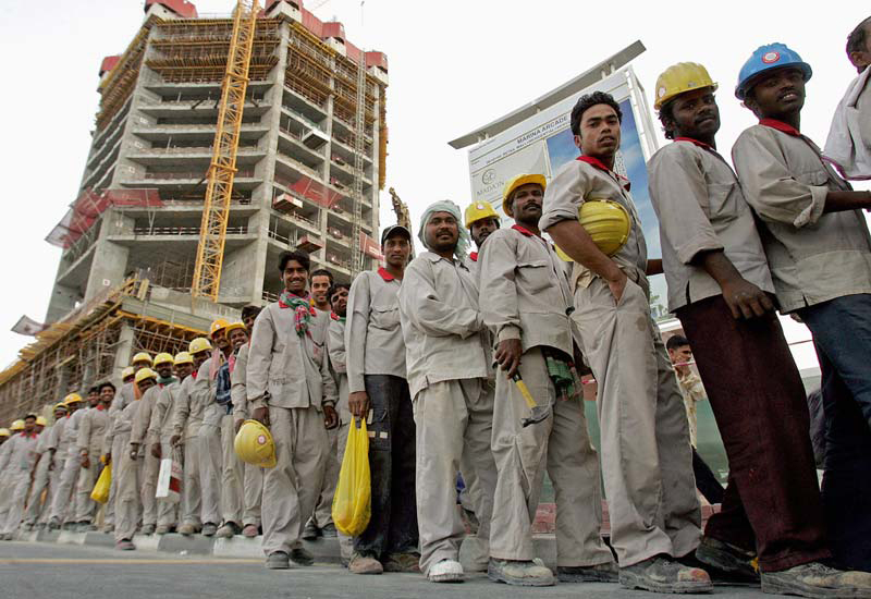 """Saudi Oger workers faced a """"food crisis"""" because employers had not paid their wages."""