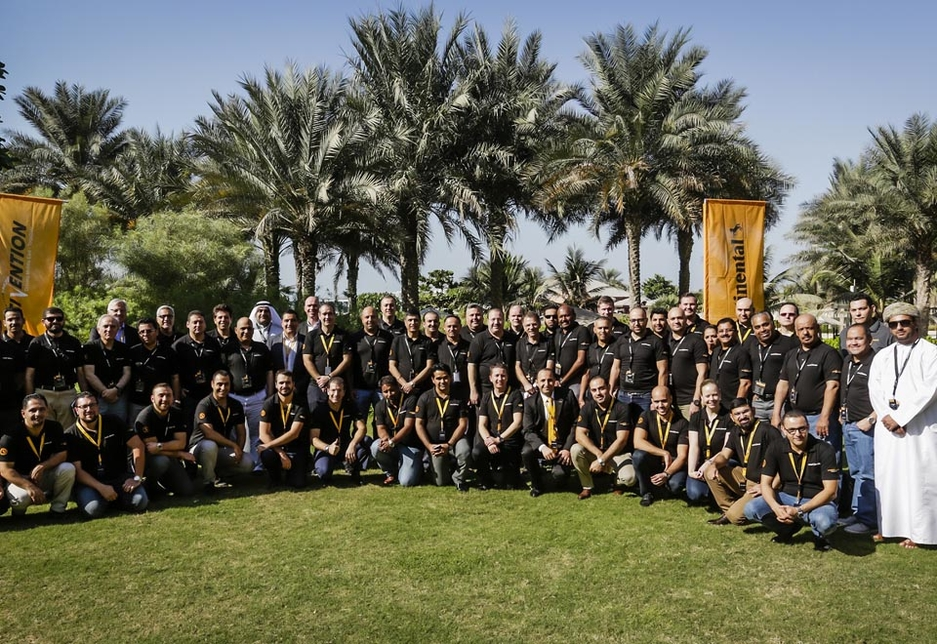 Attendees at the Continental Middle East annual regional partner conference.