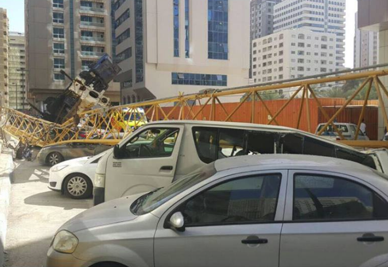 ADM has suspended the contractor, consultant, and subcontractor associated with a recent crane accident in the emirate [image courtesy of Abu Dhabi Police].
