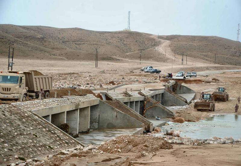 Emergency repair works are under way to fix Adonub Bridge.