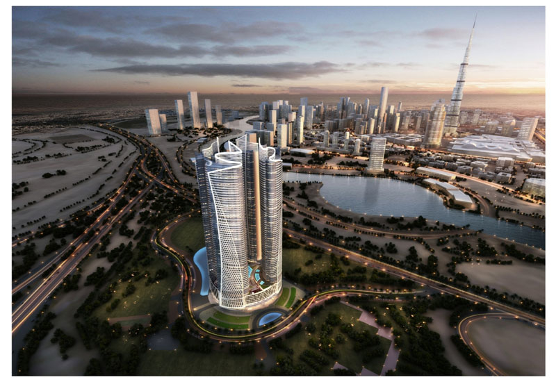Paramount Residences at the Paramount Tower Hotel and Residences in Dubai.