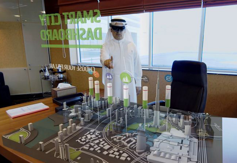 Dubai's DEWA announced it has adopted the Microsoft HoloLens technology. [Image: Dubai Media Office]