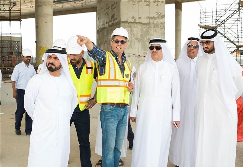 DEWA's HE Al Tayer recently visited the Innovation Centre's construction site [image: Dubai Media Office].