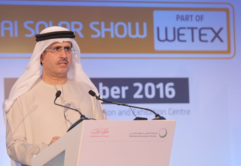 DEWA MD and CEO Saeed Mohammed Al Tayer at the 2016 edition of WETEX.