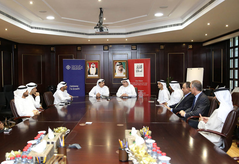 The signing was attended by numerous VIPs, which included Arif Amiri, CEO of Dubai International Financial Centre Authority, and Waleed Salman, Vice Chairman of Etihad Esco.