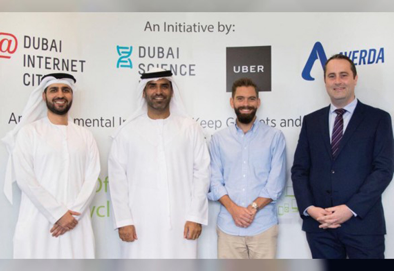 The initiative was carried out with Uber and Averda.