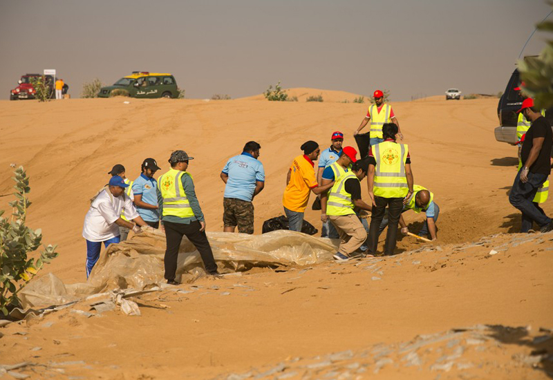 DM's waste management department led the 'An Hour with a Cleaning Worker' campaign. [Image: Dubai Municipality]