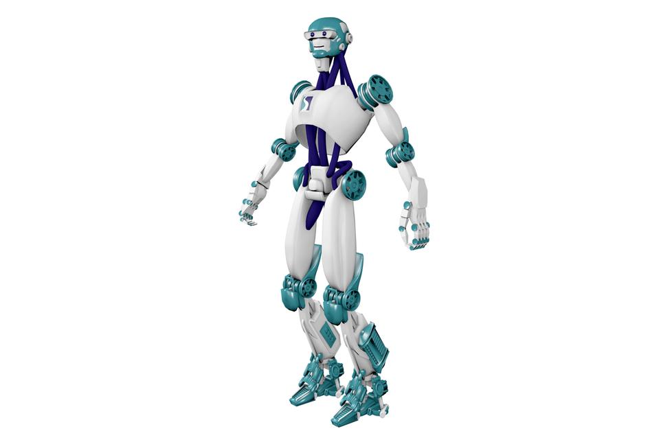 The robotic virtual avatar used by FMS Tech's Kiosks.