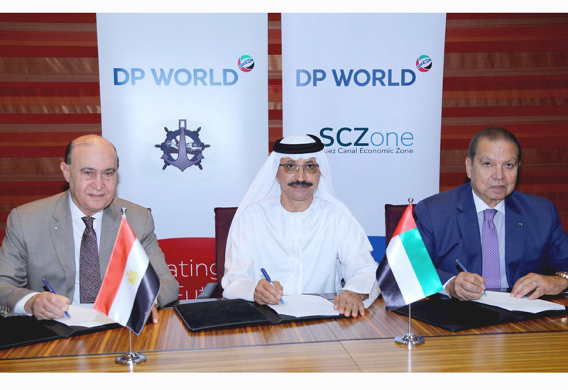 DP World has signed an MoU with the Suez Canal Authority and Egypts Holding Company for Maritime and Land Transport [image: WAM].