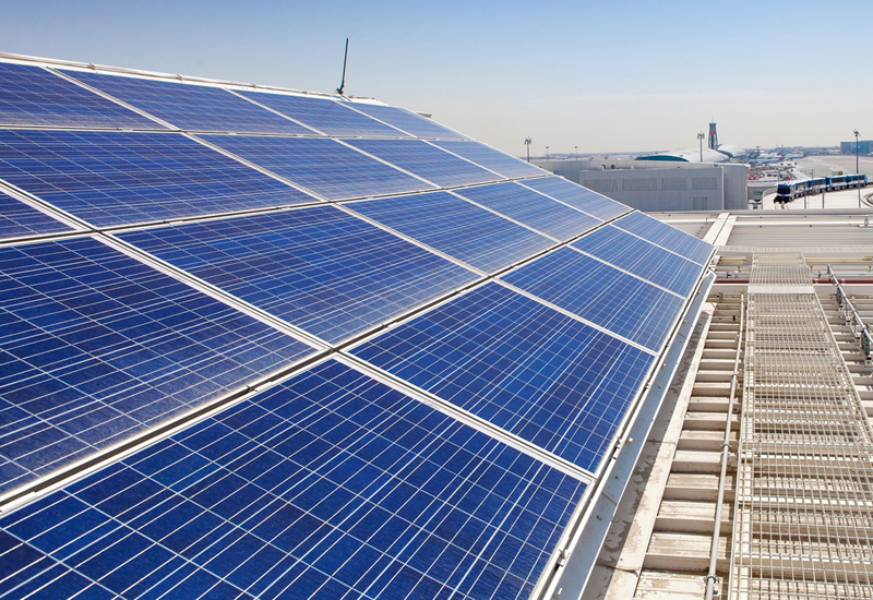 Solar panels were installed at DXB's Concourse D.